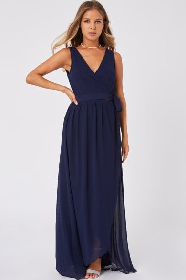 Phoebe Navy Maxi Wrap Dress