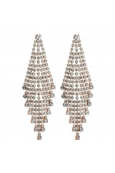 Rose Gold Plated Crystal Chandelier Earring