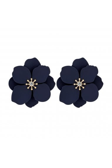 Blue Flower Stud