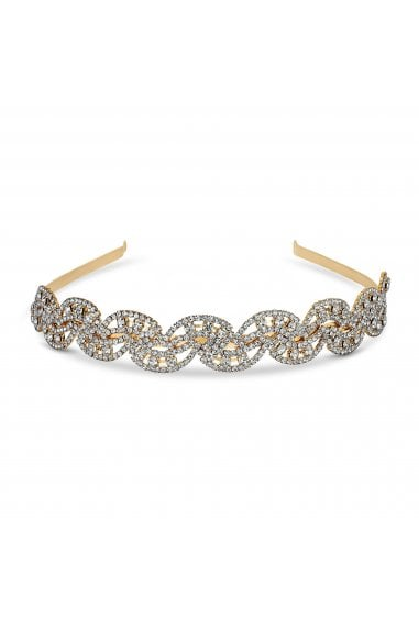 Gold Crystal Wave Aliceband