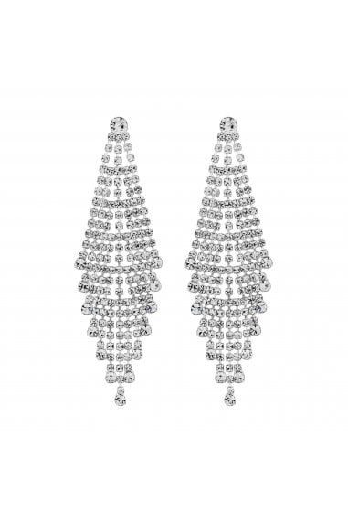 Silver Shower Chandelier Earrings