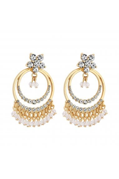 Gold Plated Jangle Drop Earrings