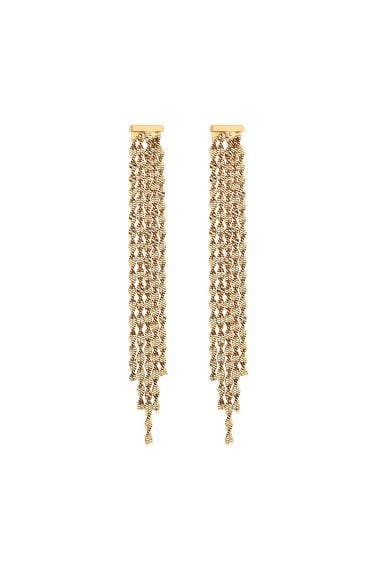 Gold Plated Crystal Twist Chain Fringe Earring