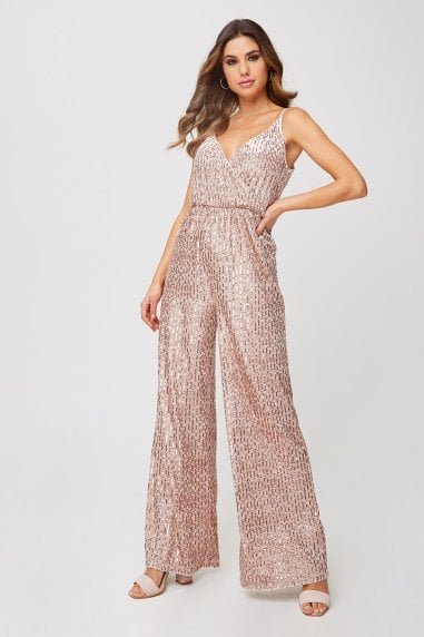 Shelley Mink Velvet Sequin Jumpsuit