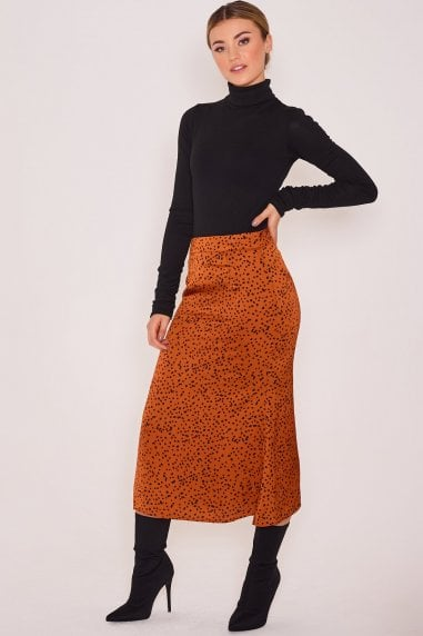 Gigi Gold Slip Skirt