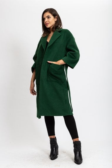 Belted Forest Green Coat