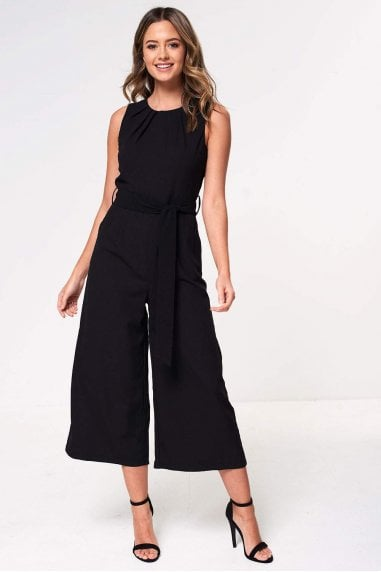 Ella Culotte Jumpsuit in Black