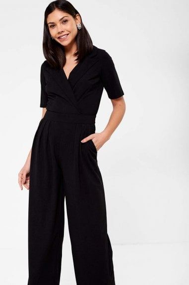 Maura Crossover Jumpsuit in Black