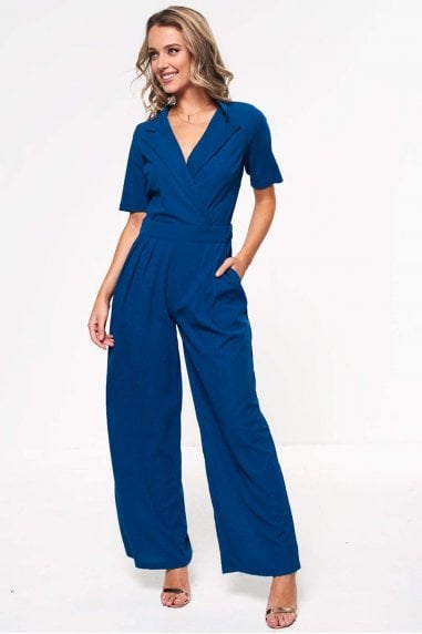 Maura Crossover Jumpsuit in Teal