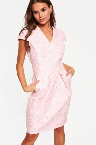 Occasion Dress in Pink Animal Print