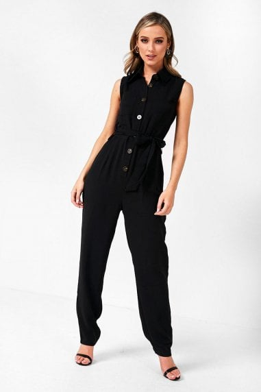 Katarina Sleeveless Jumpsuit in Black