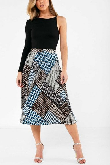 Emer Pleated Skirt in Multi