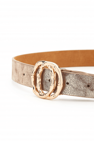 Gold Bamboo Double Circle Belt