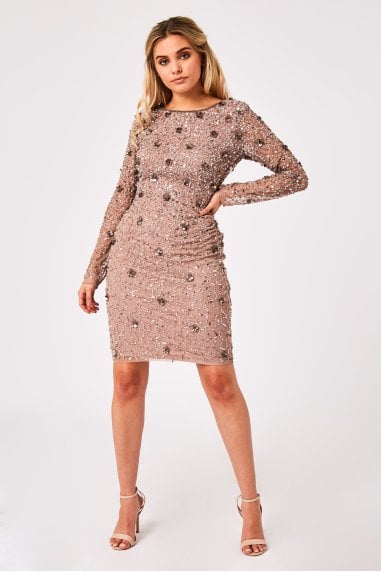 Jenny Mink Sequin Bodycon Dress