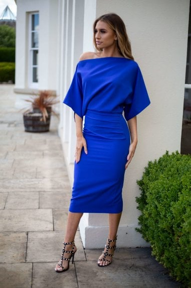 Esme Off Shoulder Ruched Bodycon Dress