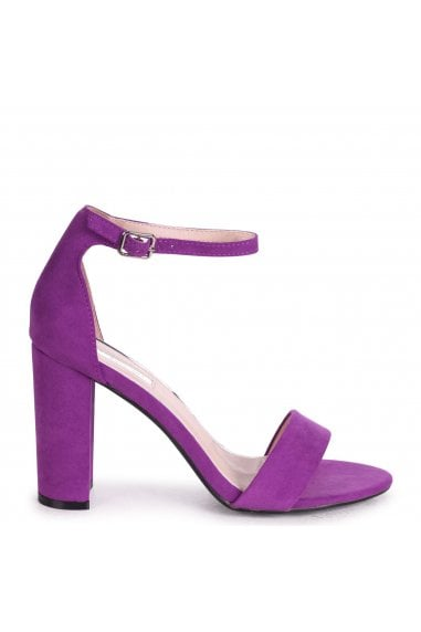 NELLY - Aubergine Suede Single Sole Block Heel