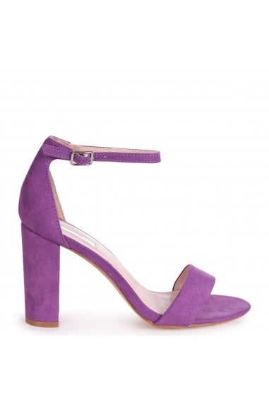 NELLY - Lilac Suede Single Sole Block Heel