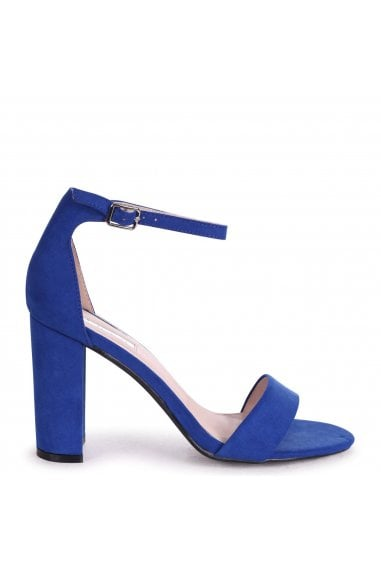 NELLY - Blue Suede Single Sole Block Heel