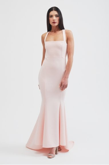 The Ava fishtail maxi dress