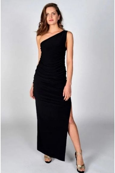 Angelina Black Maxi Dress