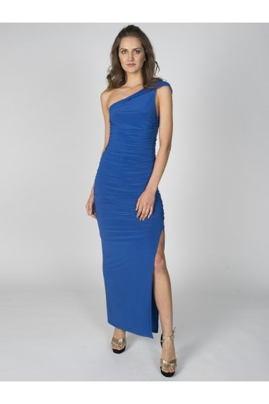 Angelina Maxi Dress in Cobalt Blue