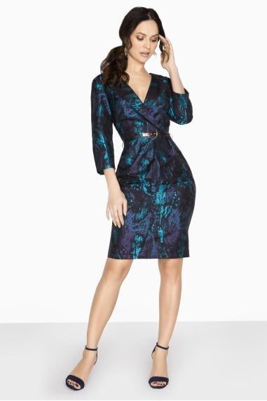 Wentworth Tuxedo Pencil Dress In Jacquard