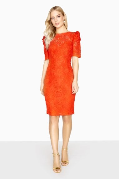 Abbeville Puff Sleeve Lace Dress