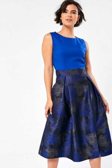 Niamh 2 in 1 Ocassion Dress in Cobalt
