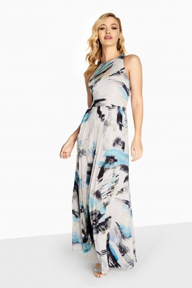 Nancy Brush Stroke Maxi With Tie Waist