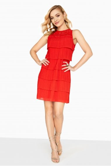 Lottie Layered Pleat Shift Dress