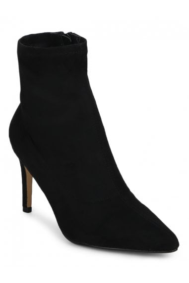 TRUFFLE COLLECTION Black High Heel Pointed Ankle Boots