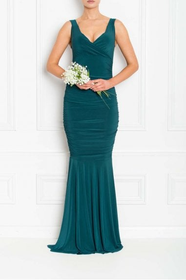 Gabby Green Fishtail Maxi Dress