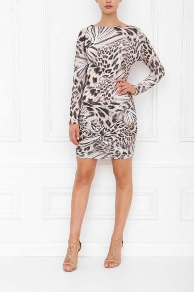 Emily Leopard Print Mini Dress