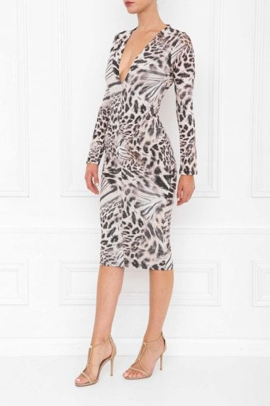 Jenny Leopard Print Midi Dress