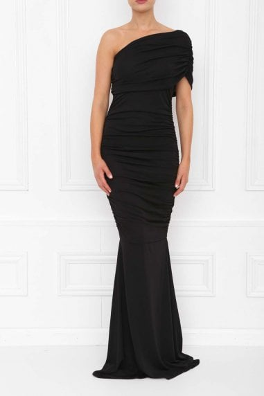 Alice Black Fishtail Maxi