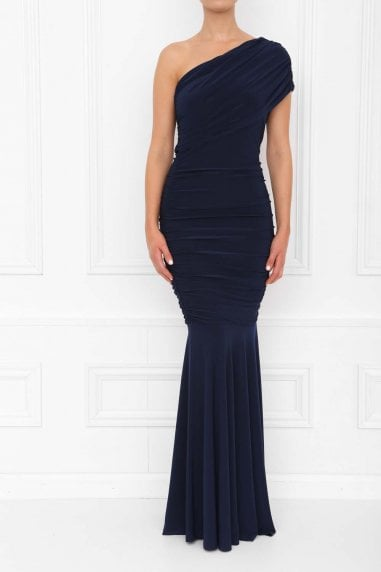 Alice Navy Fishtail Maxi