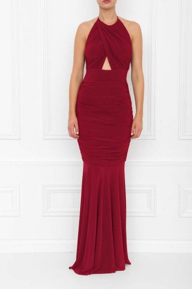 Erin Berry Fishtail Maxi Dress