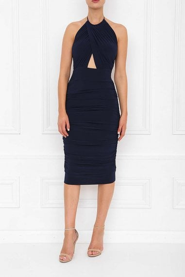Erin Navy Midi Dress