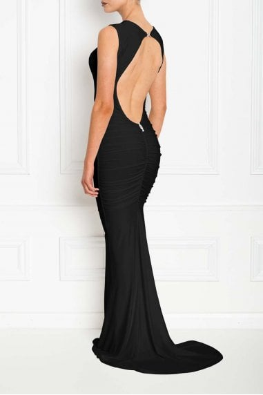 Bella Black Backless Sleeveless Maxi Dress