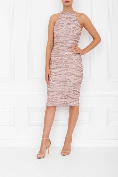 Harley Rose Pink Sequin Midi Dress