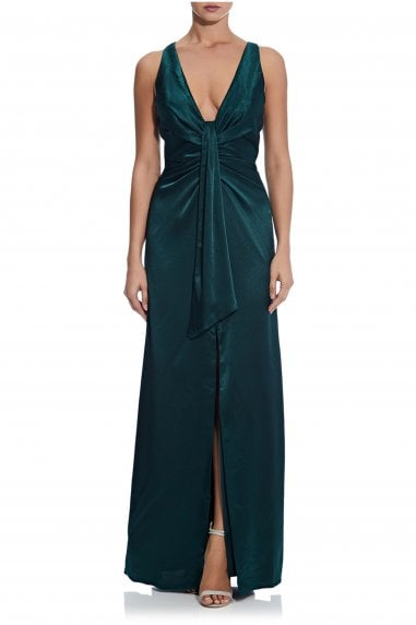 Liquid Satin Draped Gown