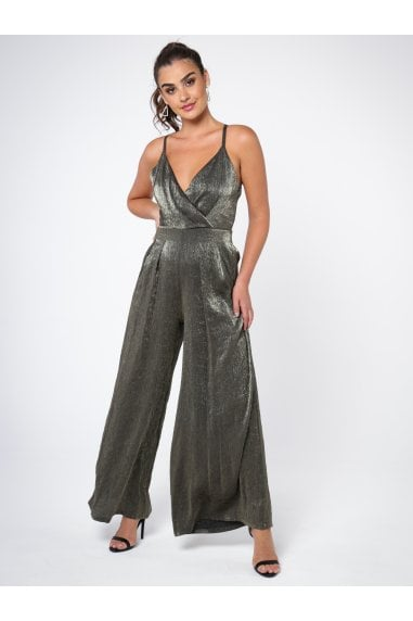 WIDE LEG JUMPSUIT IN GREEN