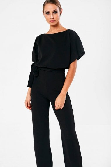 Roseanne Belted Jumpsuit in Black
