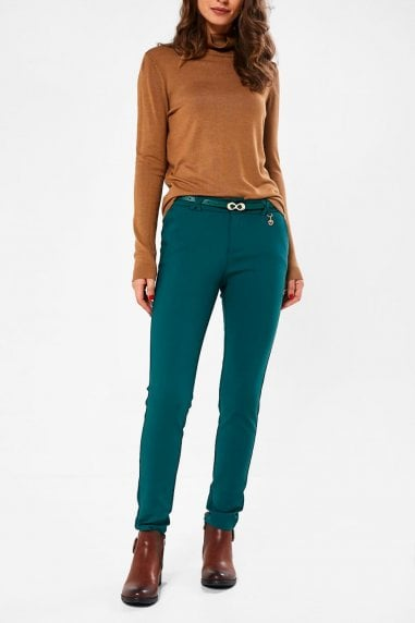Brett Slim Trousers in Green