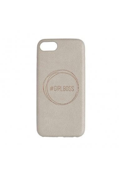 Vegan Leather Black Good Vibes Only Iphone Case