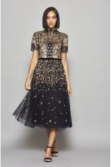 Idra Sequin Embellished Midi Dress