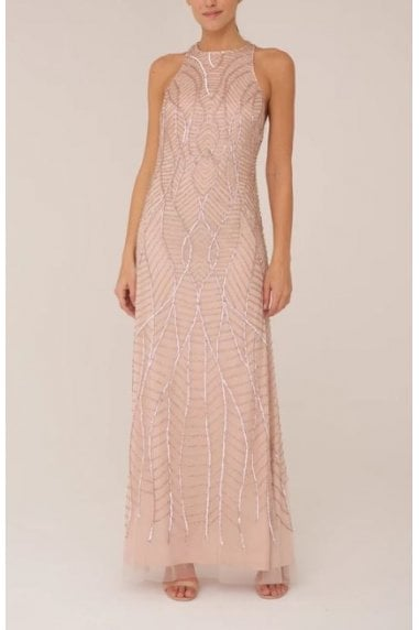Pale Blush Beaded Gown