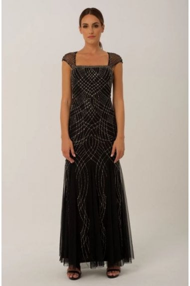 Black Embellished Maxi Gown