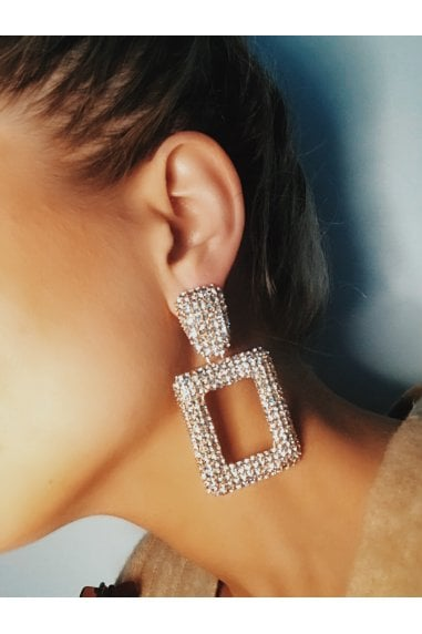 Statement Crystal Rhinestone Earrings