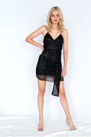 Sequin Mini Dress Black